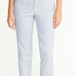 Old navy railroad pixie chino pants nwt ankle 8